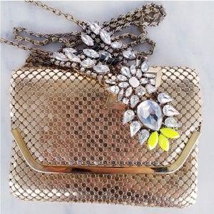 ❤4 for $25❤ Gold Mesh Vintage Bag 1940s Pinup Girl